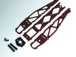 RED G-10 STANDARD DRAG CHASSIS KIT WITHOUT WHEELIE BARS